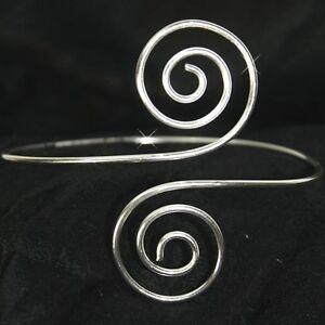 oberarm armreifen spirale bollywood armlet indien silber farben goa hippie 7 ebay. Black Bedroom Furniture Sets. Home Design Ideas