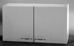 oberschrank f r k che minik che k chenschrank schrank 1 m weiss neu ebay. Black Bedroom Furniture Sets. Home Design Ideas