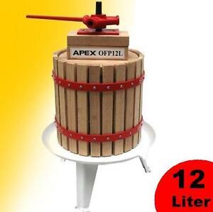 Obstpresse-Beerenpresse-Weinpresse-12L-Saftpresse-Apfelpresse-Maische-Presse