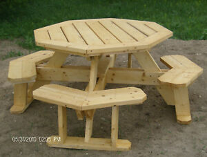 Octagon Picnic Table Plans Easy to Do | eBay