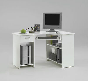 Office Furniture Home Office Computer Desk Corner Unit White Ebay