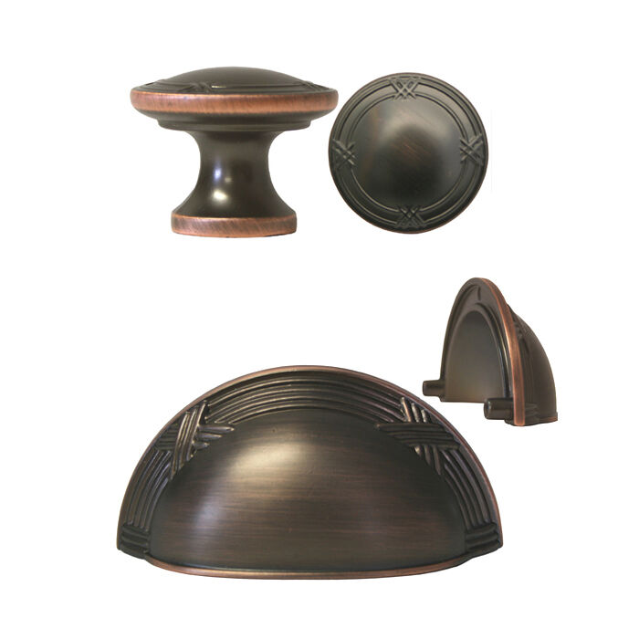Bronze Ribbon Reed Kitchen Cabinet Drawer Knobs and Pulls 3