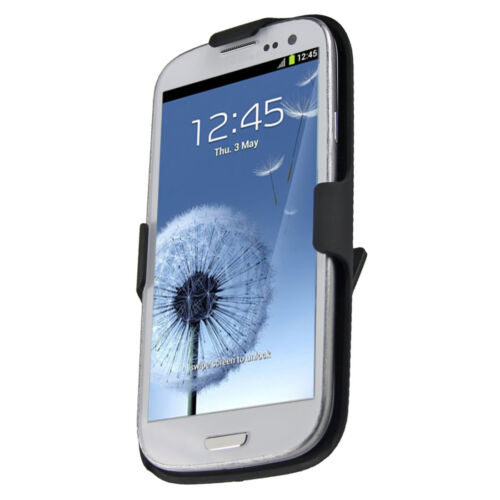 Oker Hard Rubberized Case/Belt Holster For Samsung Galaxy S III Black or White in Cell Phones & Accessories, Cell Phone Accessories, Cases, Covers & Skins | eBay