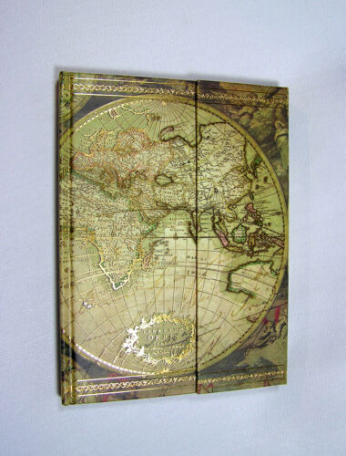 Old World Map Tri-fold Fashion Journal w/ Magnetic Closure 120 Ruled Pages NEW in Books, Accessories, Blank Diaries & Journals | eBay