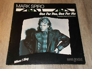 One For You, One For Me - Mark Spiro - &quot;45&quot; - LP - Vinyl - Ariola - <span itemprop='availableAtOrFrom'>Hebertshausen, Deutschland</span> - One For You, One For Me - Mark Spiro - &quot;45&quot; - LP - Vinyl - Ariola - Hebertshausen, Deutschland