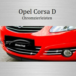 opel corsa d chrom leisten k hlergrill zierleisten unten neu ebay. Black Bedroom Furniture Sets. Home Design Ideas