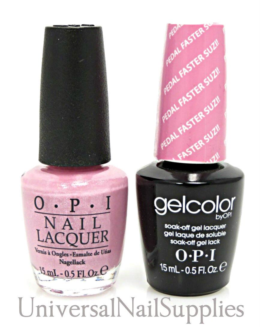 "Opi Soak-Off GelColor Gel Polish + Nail Polish ""Pedal"