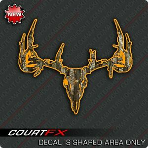 Deer Skull Camo http://www.ebay.com/itm/Orange-Camo-Deer-Skull-Decal-Rifle-Sticker-/260711325360