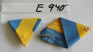 Ordensband-Osterreich-Dreiecksband-blau-gelb-40mm-KuK-usw-neu-e940
