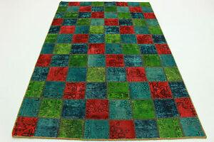 orient teppich patchwork vintage t rkis gr n 240x160 used. Black Bedroom Furniture Sets. Home Design Ideas