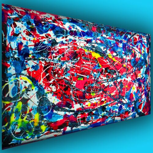 Orig Art large abstract acrylic contemporary popart modern deco painting auth NR in Art, Direct from the Artist, Paintings | eBay