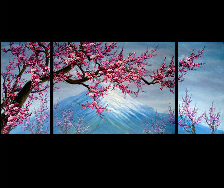 Original Modern Abstract Art Cherry Blossom Painting