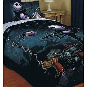 ... Original Nightmare Before Christmas Comforter bedding Jack Sally new