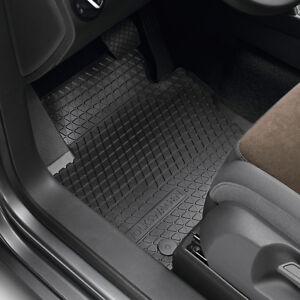 Original-Volkswagen-Satz-Gummimatte-vorn-VW-Touareg-schwarz-NEU