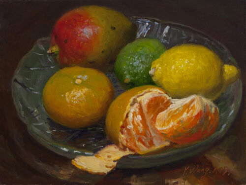 Original painting 6x8 still life fruits a painting a day realism Y. WANG in Art, Direct from the Artist, Paintings | eBay