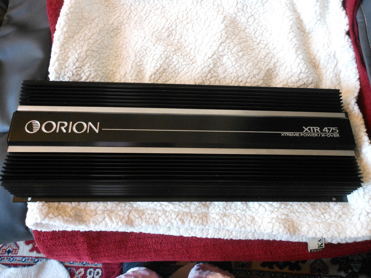 Alphasonik Pma5753A orion xtr 475 xtreme 4 channel amplifier w crossover nice on