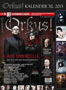 Orkus-Dezember-2014-Januar-2015-XL-Fetish-Gothic-Kalender-2015-2-CDs-u-v-m