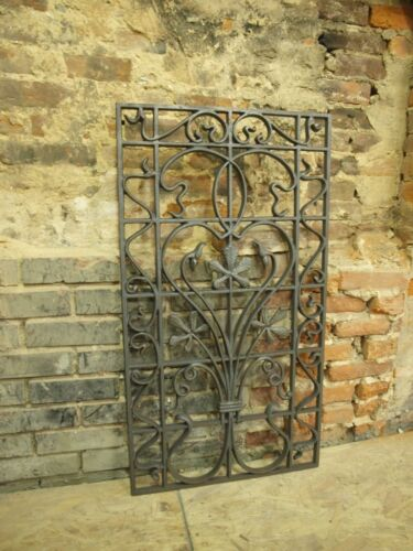 Ornate Cast Iron Panel Grate Gate Flower GARDEN ARCHITECTURAL CAST WROUGHT in Antiques, Architectural & Garden, Other | eBay