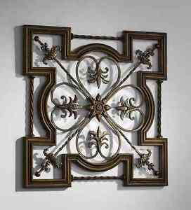 Ornate Tuscan Old World Wrought Iron Amp Wood Fleur de Lis ...