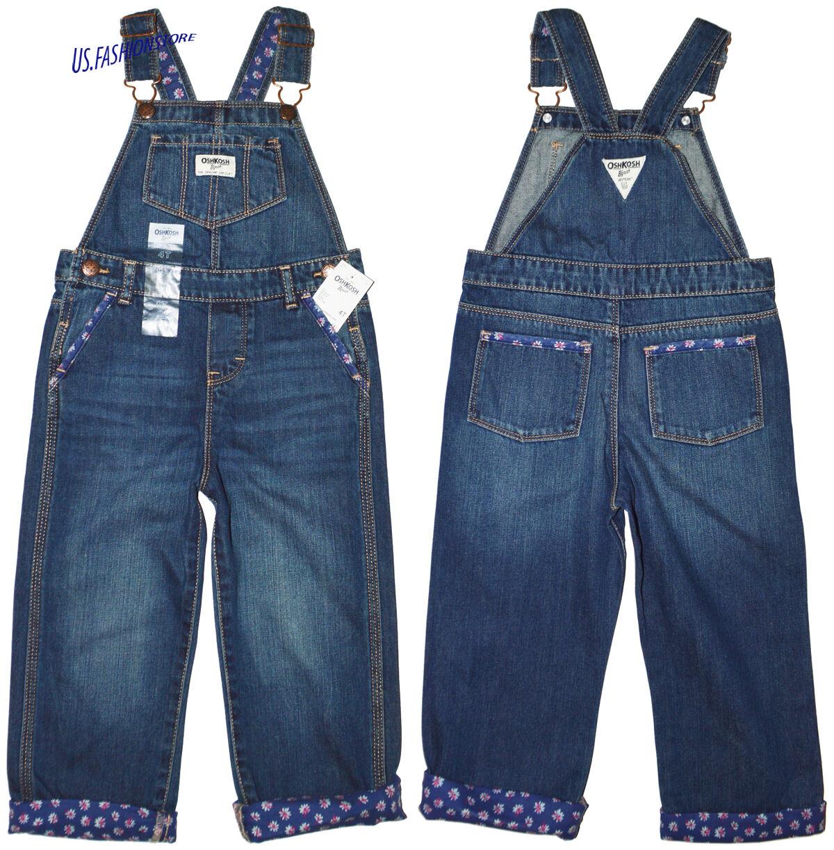 OshKosh B\'Gosh Girl Dungarees Overalls Children Jeans Blue Cool Wash ...