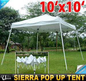 EZ Sierra POP UP Canopy Party Tent Gazebo Tailgating Tent White | eBay & jantenanto: 10 x 10 enclosed canopy