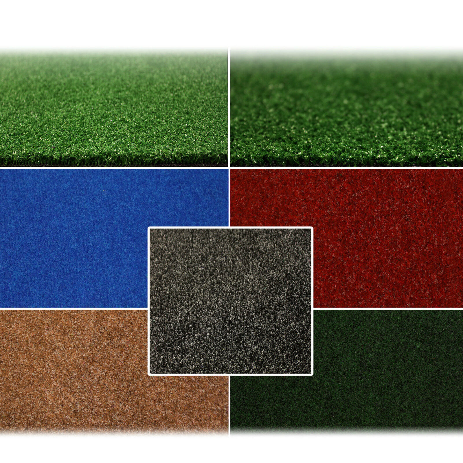 Outdoor Flooring Artificial Grass & Carpet Green Blue