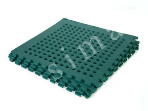 Outdoor playground safety mats green 192 sqft k ebay for Outdoor safety flooring