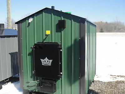 outdoor wood furnace boiler american royal model 7400 ebay