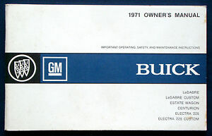 Owners-Manual-Betriebsanleitung-1971-Buick-LeSabre-Centurion-Electra-USA