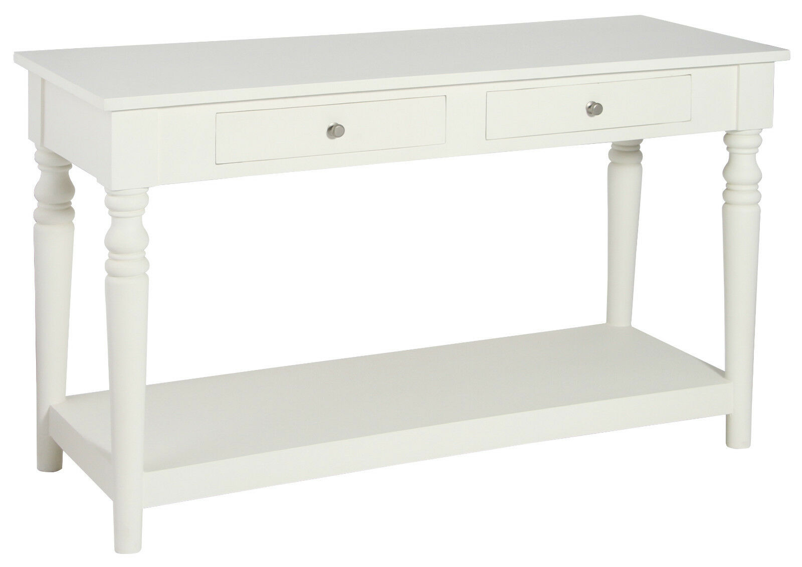 Pacific Lifestyle Antique White Mango Wood Shelved Console Table Ebay