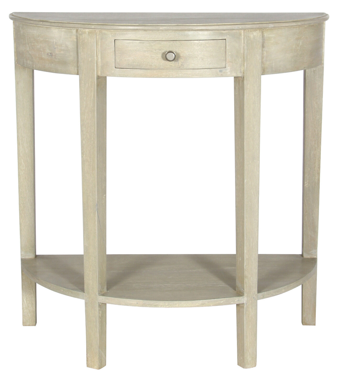 Pacific lifestyle vintage sand mango wood half moon for Half moon console table