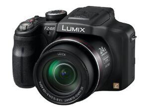 PANASONIC-LUMIX-DMC-FZ48-FZ-48-E-K-SCHWARZ-12-1-MP-Digitalkamera-Schwarz-NEU