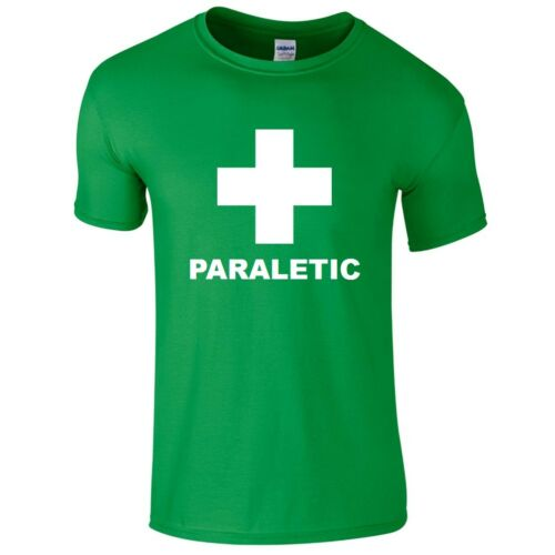 PARALETIC Mens T-Shirt S-2XL Funny Printed Green Top Drinking Booze Party Drunk