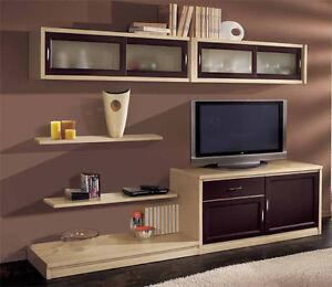 Parete attrezzata laccata soggiorno vari colori sospesa ebay for Parete soggiorno sospesa