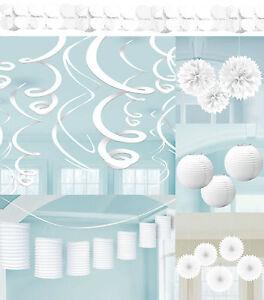 party deko weiss papier laterne f cher girlande hochzeit dekoration geburtstag ebay. Black Bedroom Furniture Sets. Home Design Ideas