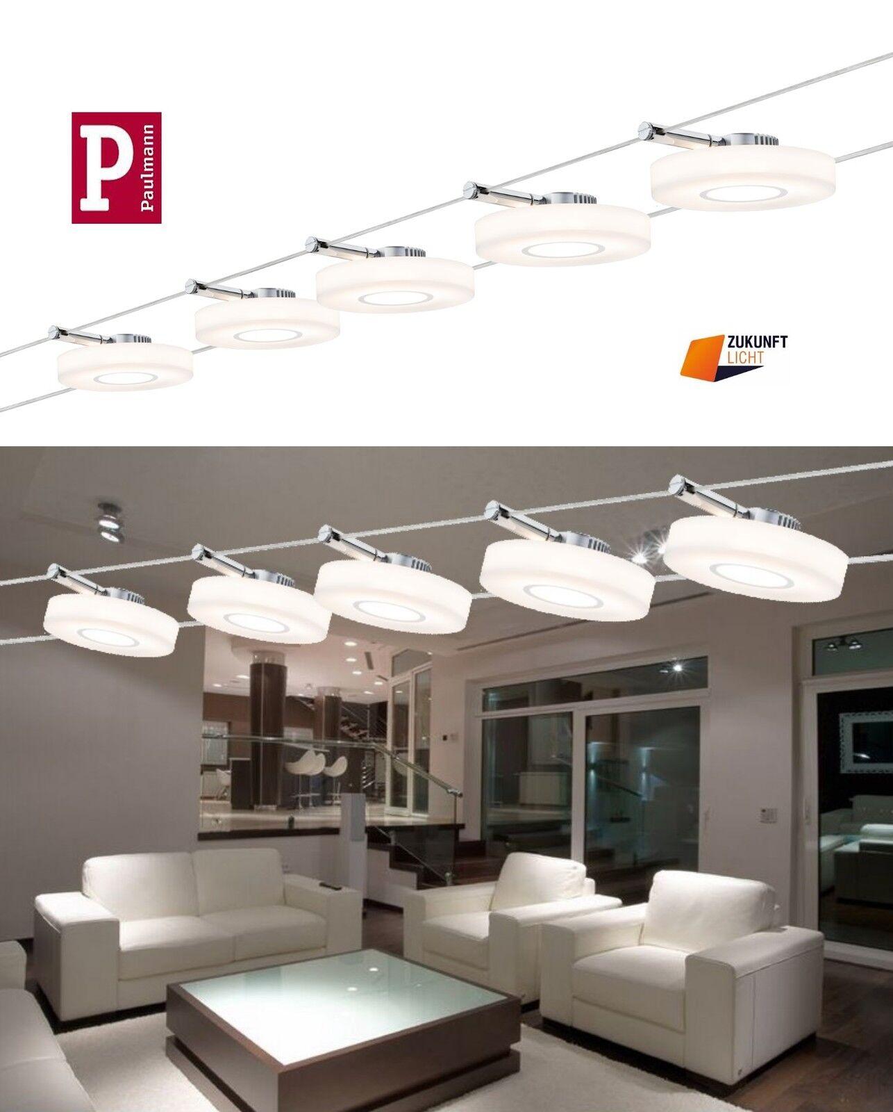 paulmann led seilsystem discled i 5x4w 12v neuste led technik art 94109 new ebay. Black Bedroom Furniture Sets. Home Design Ideas