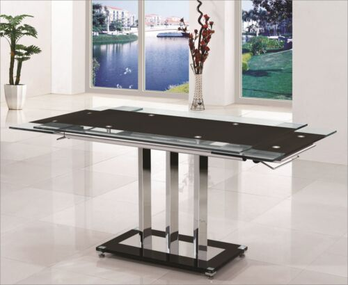 Black Glass Extending Dining Table : KGrHqJpE 1KkcMPBP8zCDRGzg6012 from www.ebay.co.uk size 500 x 410 jpeg 28kB