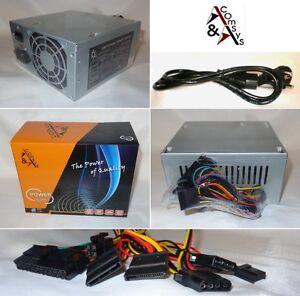 PC-Netzteil-ATX-400W-8cm-Luefter-20-24-P4-2x-SATA-2x-IDE-FDD-Sehr-leise-Kabel