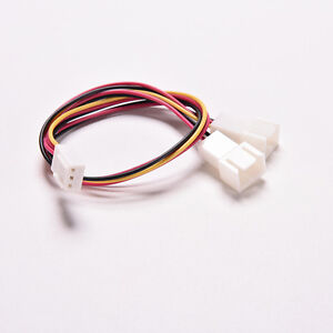 PC-Power-Splitter-Y-Cable-3-Pin-Female-to-2x-Male-Luefter-Strom-Kabel-15CM-FF