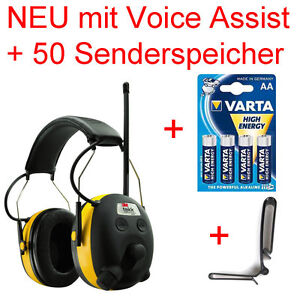 PELTOR-24db-Digital-Radio-Gehoerschutz-Kopfhoerer-mit-BASS-Boost-Sprachassistent