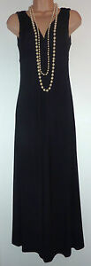 Black Jersey Maxi Dress on Per Una Long Black Jersey Maxi Dress Vtg 20s Lace Detail Party Grecian