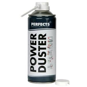 perfects spray power duster air compressor 400ml can clean pc keyboard phone ebay. Black Bedroom Furniture Sets. Home Design Ideas