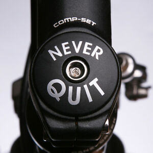 Personalised Frame Headset Stem Top Cap Name Cycle Cycling