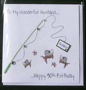 ... HANDMADE FISHING BIRTHDAY CARD. HUSBAND, BOYFRIEND,