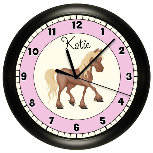 PERSONALIZED NURSERY HORSE WALL CLOCK PONY DECOR ART KIDS BEDROOM HORSEY FARM in Home & Garden, Kids & Teens at Home, Bedroom, Playroom & Dorm Decor | eBay