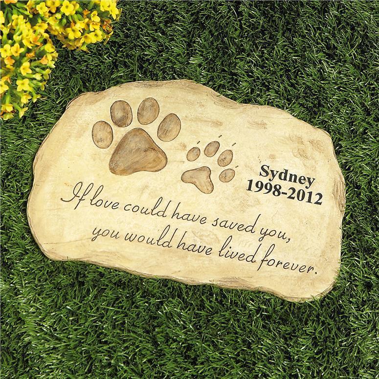 PERSONALIZED Pet Memorial Stone Garden Monument Cemetery Grave