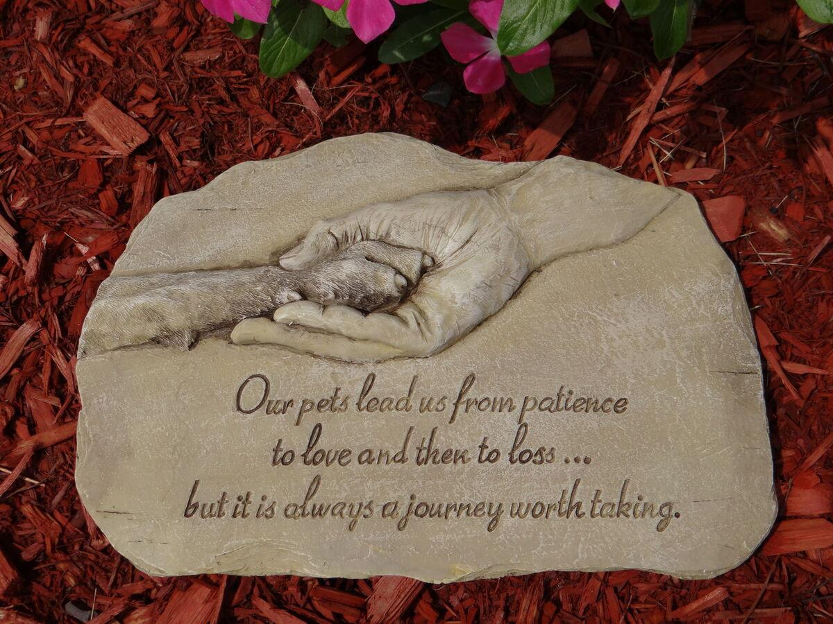 Pet Memorial Garden Stone Paw Dog Memorial Pet Grave Marker Pet