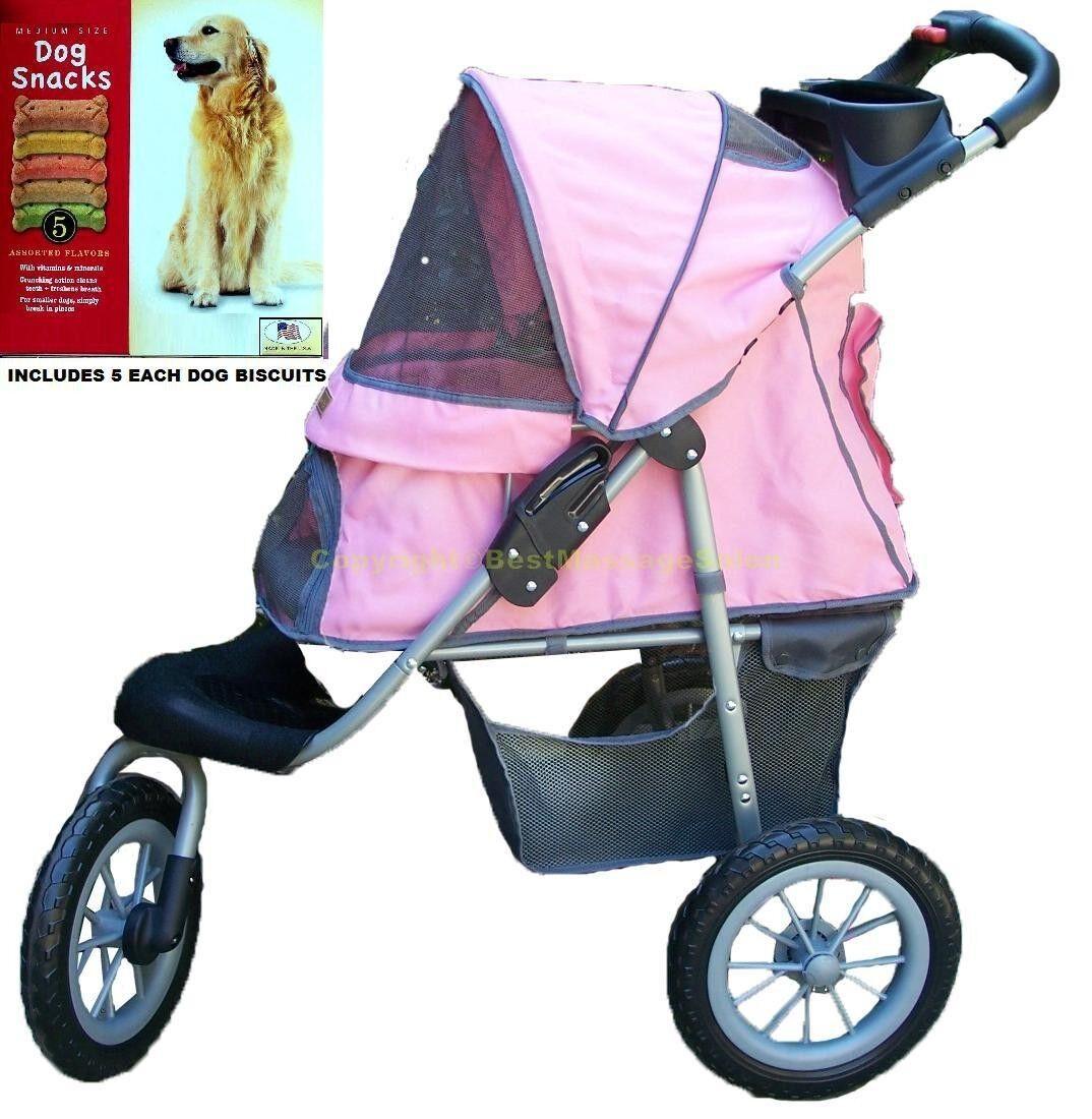 Pet Stroller Dog Cat or Other Pets Pet Jogging Stroller All Terrain Pink