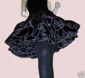 petticoat rock black punk gothic taft abiball skirt tellerrock party pin up 60er. Black Bedroom Furniture Sets. Home Design Ideas
