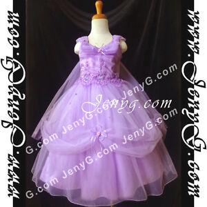 PF01-Blumenmaedchen-Festkleid-Kommunionskleid-Hochzeit-Kleid-Lila-Groesse-98-164